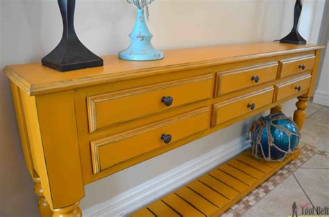 Diy Console Table With Drawers by Grand Island Console Table Tool Belt
