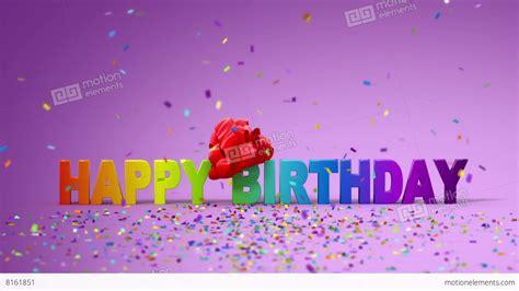 happy birthday 3d logo design happy birthday funny 3d animation stock animation 8161851