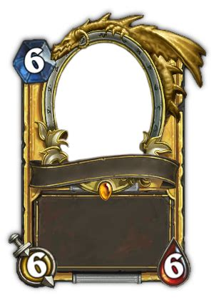 legendary card template blank golden legendary hearthstone card by guardians38 on