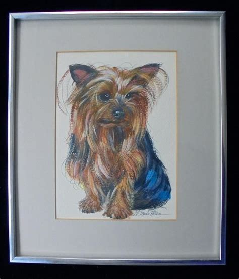 original yorkshire terrier original yorkshire terrier dog painting by renowned artist