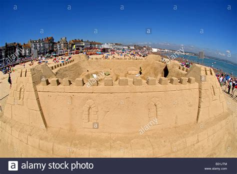largest beach in the world the world s first ever sand hotel and the largest sandcastle built in stock photo royalty free
