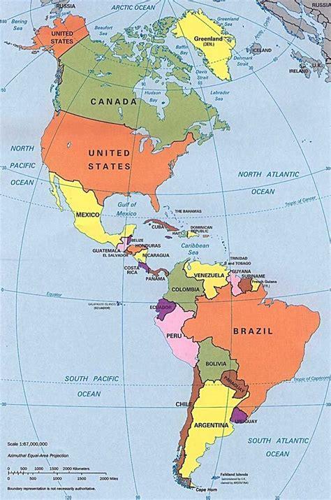 mapa politico de america con todos los paises mapa pol 237 tico de las am 233 ricas viatermal