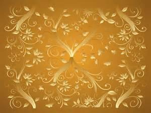 Home Design Gold Free by Gold Flower Wallpaper Wallpapersafari