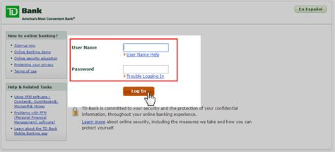 tb bank log in td bank login www tdbank account sign in