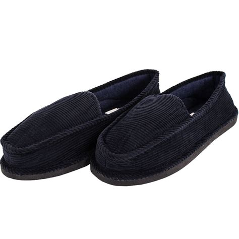 house slippers mens slippers house shoes corduroy color slip on moccasin comfort indoor outdoor