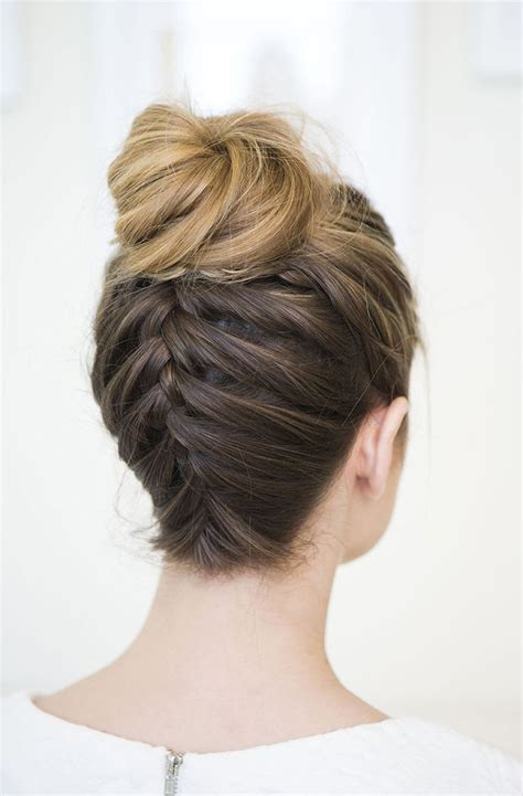 How To Do Hairstyles Buns by 25 Best Ideas About Braided Buns On Fishtail