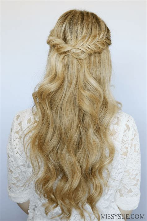 easy half up twist hairstyle with braids for american half up fishtail twist missy sue