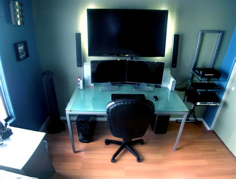 Pc Desk Setup Home Office Workstation Setupsworkstation Setups