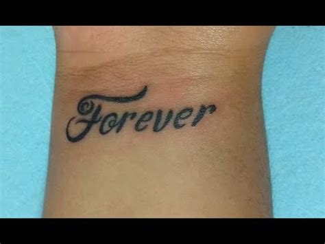 tattoo fonts youtube lettering forever nosfe ink