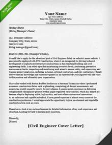 Resume Cover Letter Civil Engineer Engineering Cover Letter Templates Resume Genius
