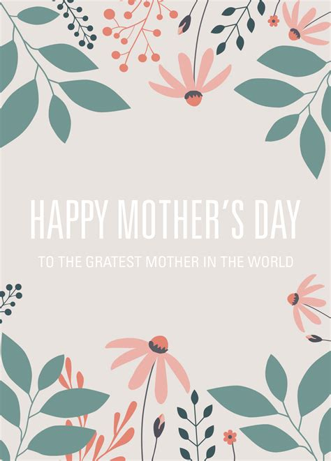 mothers day cards free templates free printable card template for s day