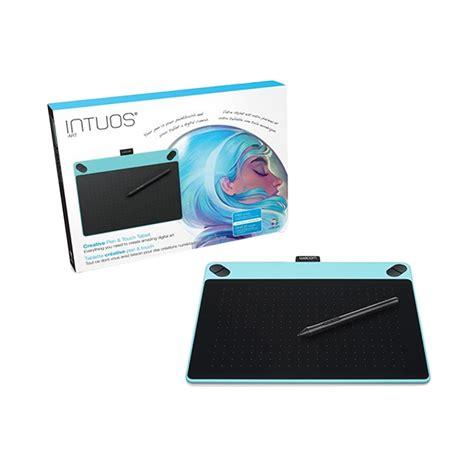 Wacom Intuos Pen Tablet Medium Cth 690 jual wacom cth 690 b0 intuos pen touch medium mint blue pen tablet harga