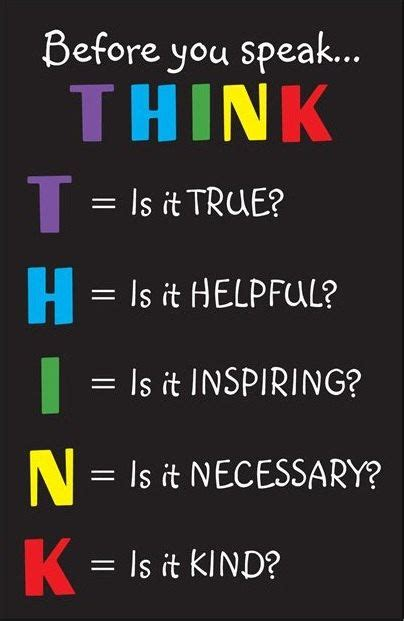 printable think poster classroom inspirational poster before you speak think