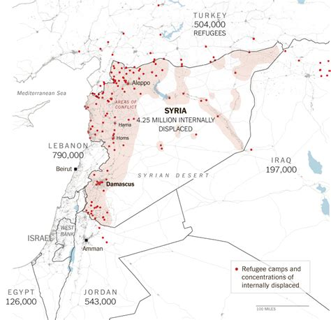 middle east map new york times the historic scale of syria s refugee crisis photographs