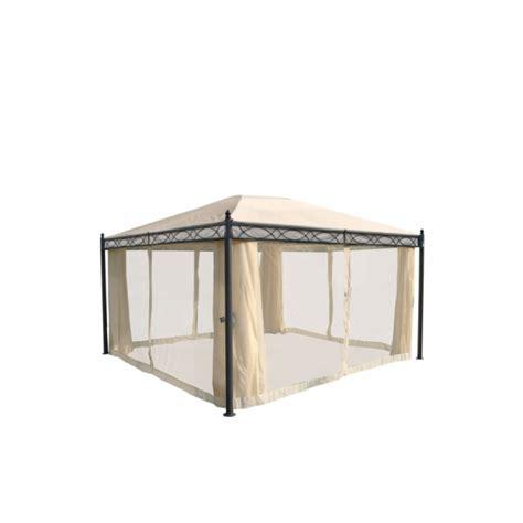pavillon 4x3m havepavillon 4x3m beige pavillon med myggenet