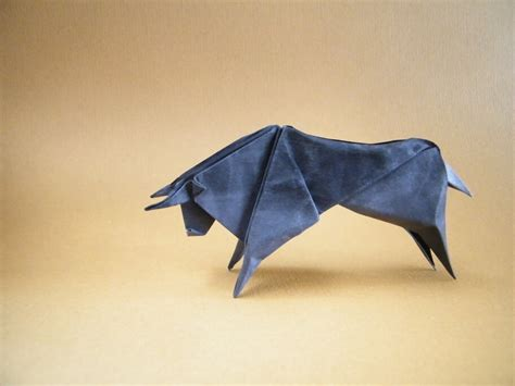 Origami Bull - this week in origami edition origami