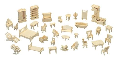 cardboard dolls house furniture templates furniture set woodcraft construction kit quay creative