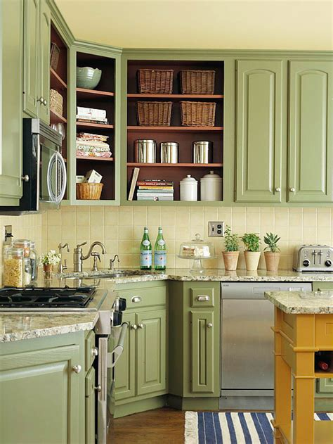 green painted kitchen cabinets kitchens with color diy