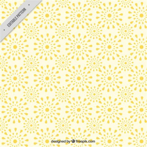 yellow pattern ai abstract floral pattern in yellow tones vector free download