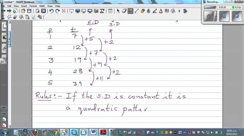 z pattern rule finding the rule of a quadratic number pattern triangles