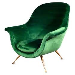 armchair in emerald green velvet 1950s at 1stdibs