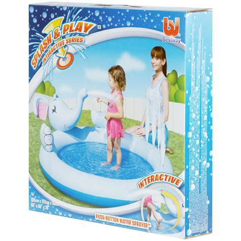 Interactive Elephant Play Pool splash play interactive elephant water