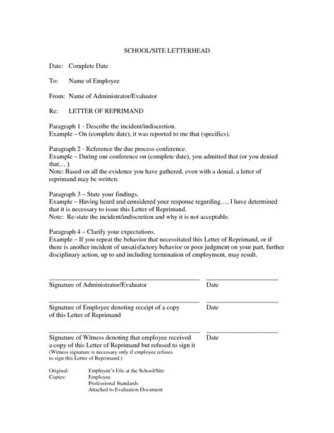 25 Images Of Tardiness Written Reprimand Template Infovia Net Write Up Letter For Employee Template
