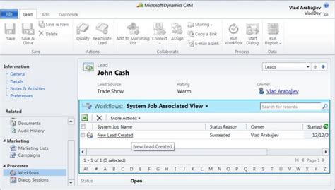 crm 2011 workflow dynamics crm 2011 use workflows to notify a user when new