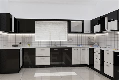 Kitchen Modular Ideas White by Modular Kitchen In Black And White Theme Good Home Advisor