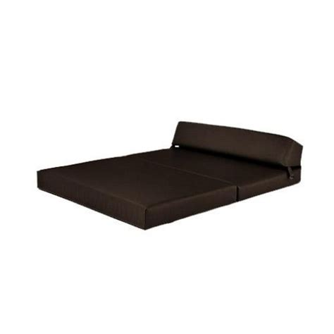 Leather Fold Out Sofa Bed Brown Faux Leather Fold Out Foam Z Bed Guest Mattress Sofa