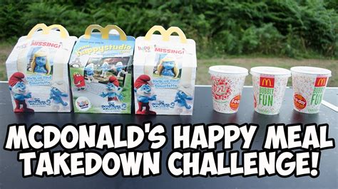 mc donalds challenge mcdonald s happy meal takedown challenge
