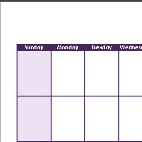 2 week calendar template table calendar design templates free