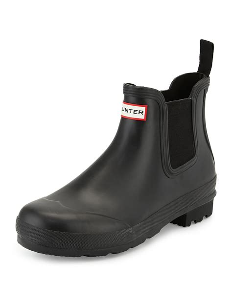 mens hunters boots sole chelsea boot in black for lyst