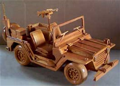 Jeep Open Roof Wooden Jeep
