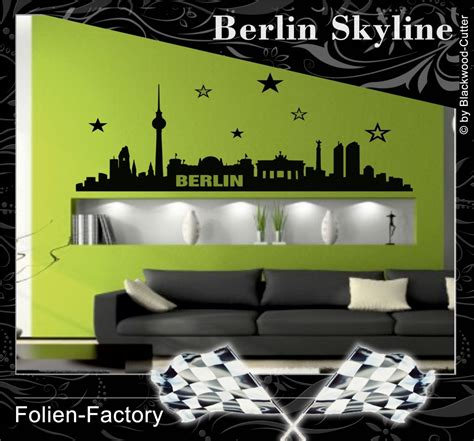 berlin wandtattoo folien factory shop berlin skyline aufkleber wandtattoo