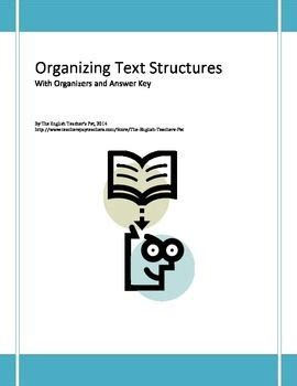 which pattern of organization is most appropriate in a good summary organizing text structures worksheet with answer key