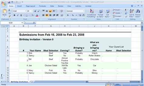 survey forms in excel survey form with excel in confluence tutorial