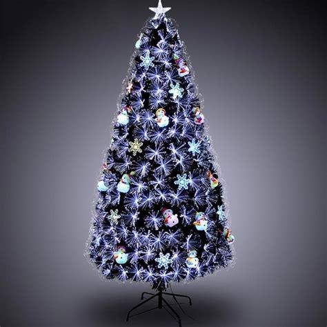 luxury 1 5m 5ft fiber optic christmas tree w snowman for