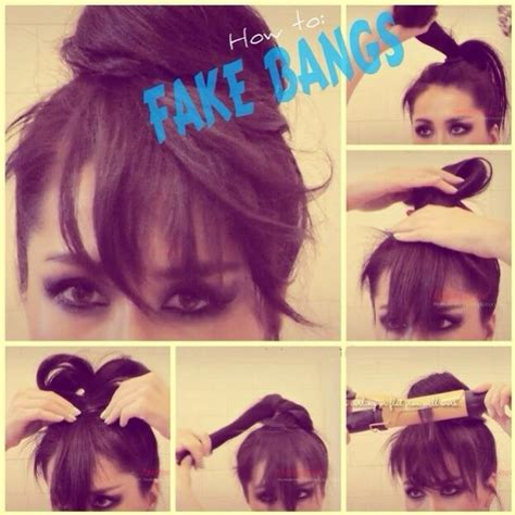 how to create fake bang quot how to make fake bangs quot musely