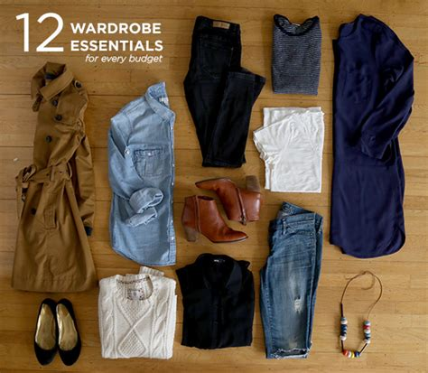 Wardrobe Essentials by 12 Wardrobe Essentials For Every Budget Say Yes