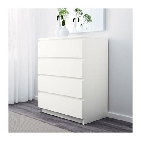 cassettiera malm 4 cassetti malm chest of 4 drawers white 80x100 cm ikea