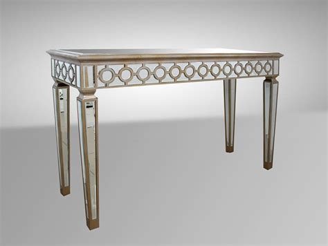 sofa table with mirror hyde transitional mirrored console table