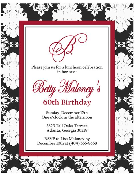 birthday invitations printable black and white free printable black and white birthday invitation