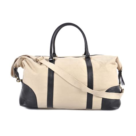 black leather weekender bag canvas leather weekender bag black found object touch of modern