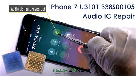 iphone 7 plus audio issue stuck on logo boot no sound fix repair replace ic u3101