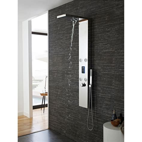 shower panels hudson reed genie shower tower as361 thermostatic chrome