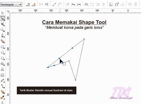 membuat gif dari corel cara memakai shape tool pada coreldraw