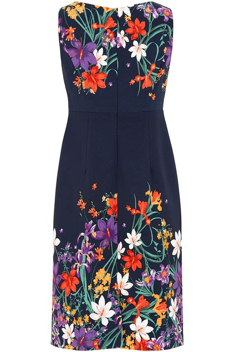Print Shift Dress floral print shift dress