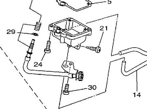 yamaha grizzly 125 carburetor diagram i a yamaha grizzly 600 there s a clear plastic hose