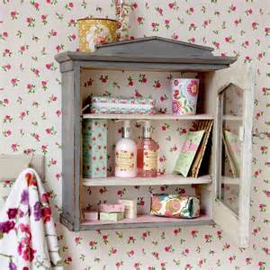 Country chic bathroom cabinet bathroom shelving ideas
